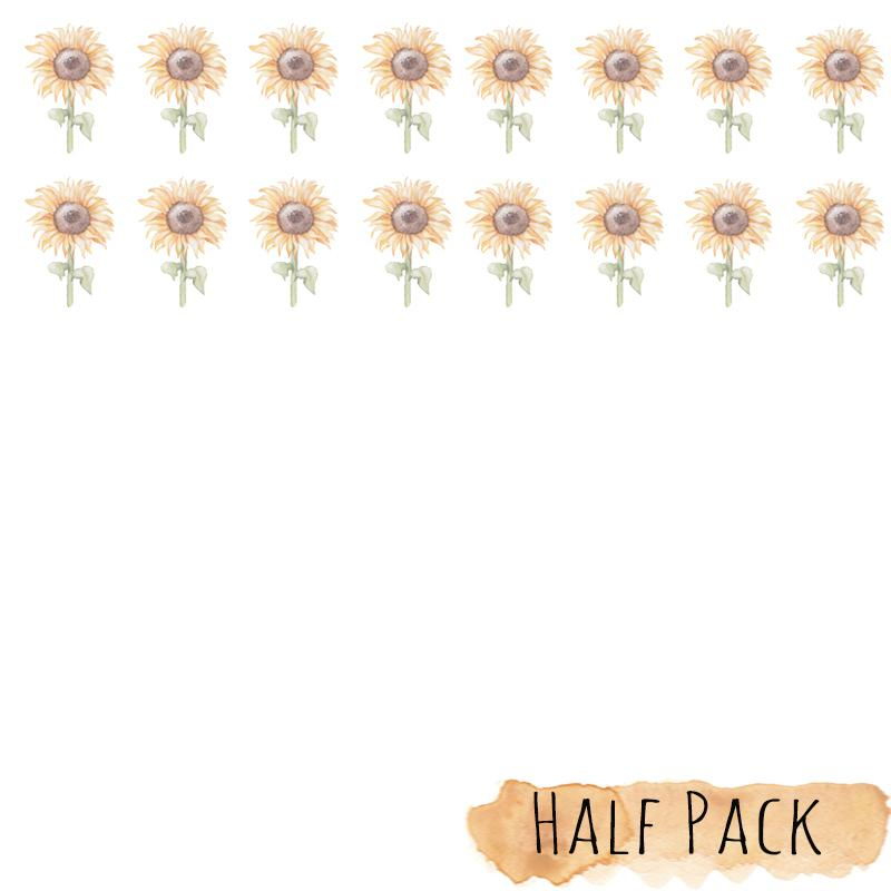SUNFLOWER Mini Wall Decals