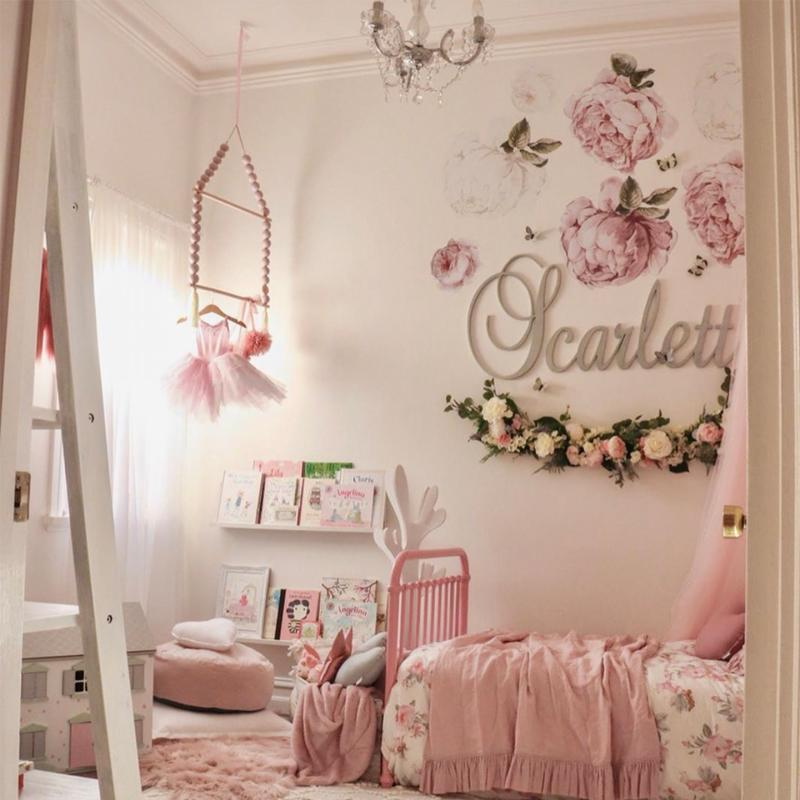 Peony & Rose Wall Decals Blush
