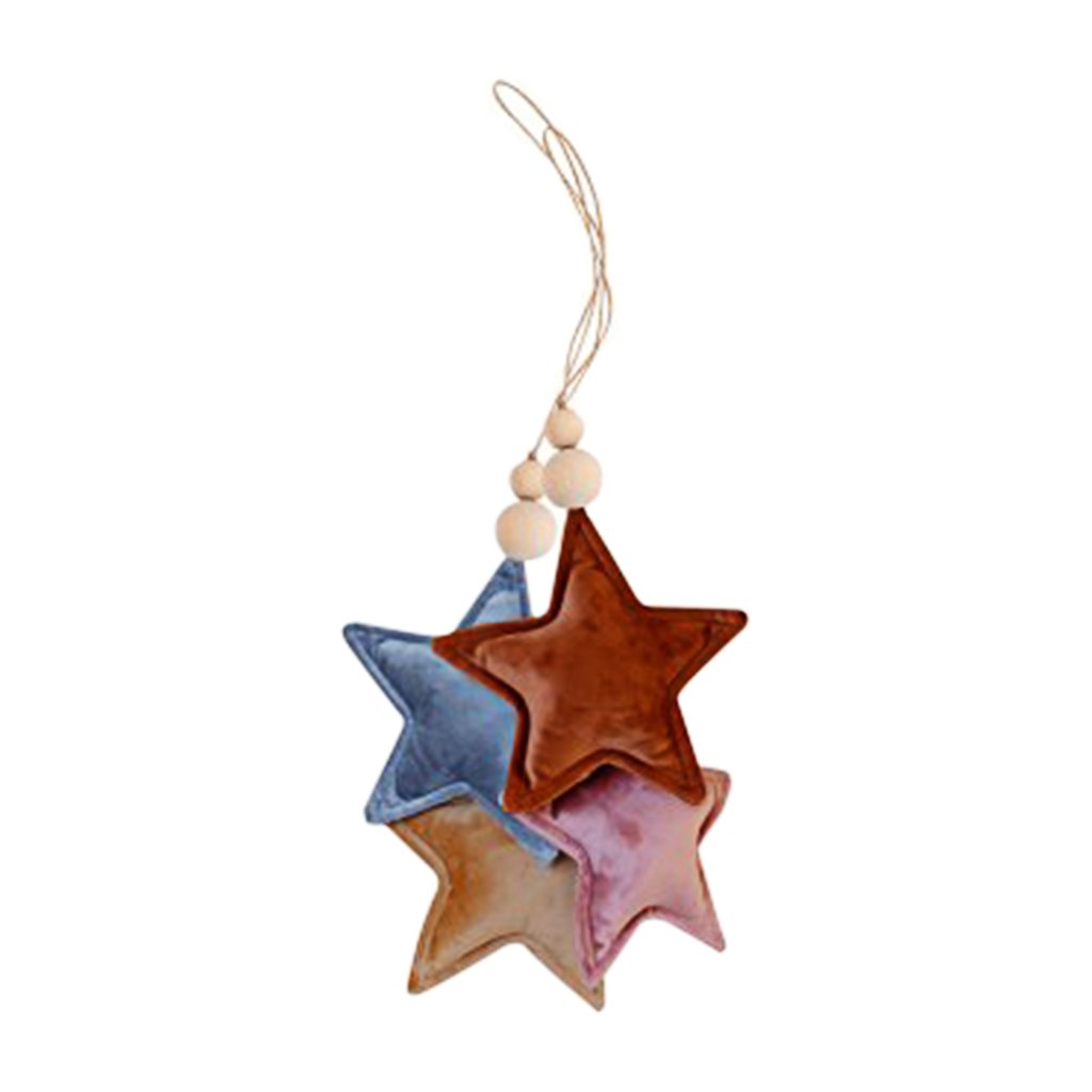 Velvet Star Pendant - Clay