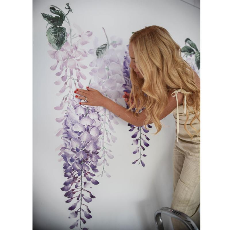 Wisteria Wall Decals - Purple Set