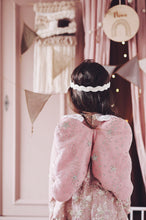 Load image into Gallery viewer, Bonne Mere Glittery Stars Heirloom Angel Wings & Eyemask - Rose