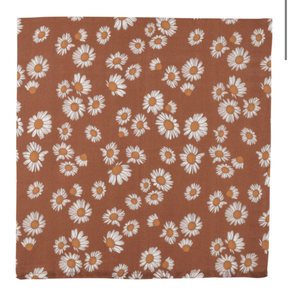 MUSLIN SWADDLE - DAISY CLAY BROWN