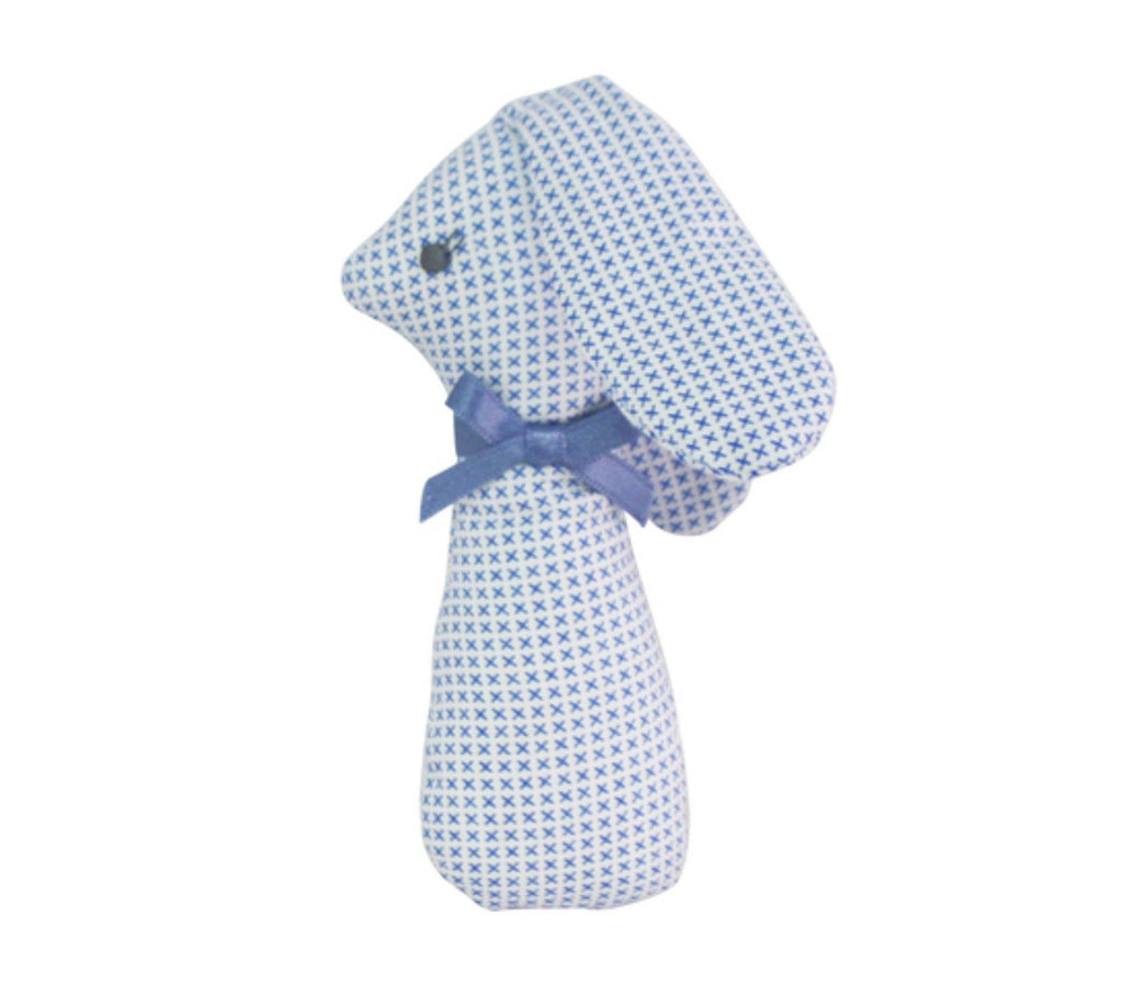 Alimrose Baby Rattle - Blue Floral