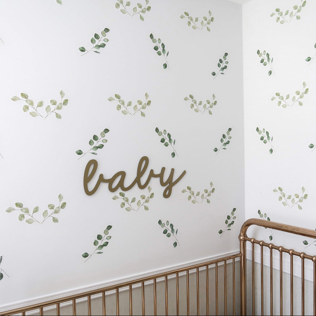Green Leaf Foliage Wall Decals