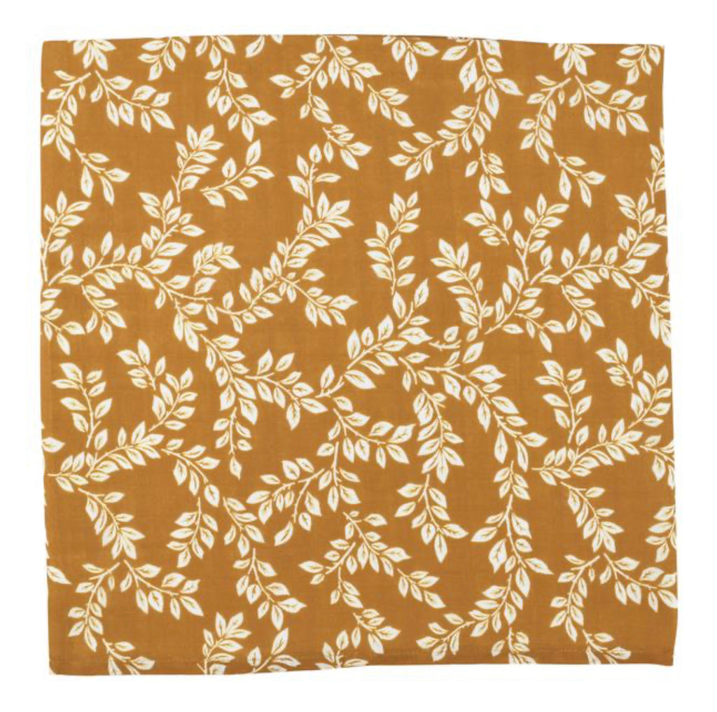 The Mini Scout Swaddle - Leafy Mustard