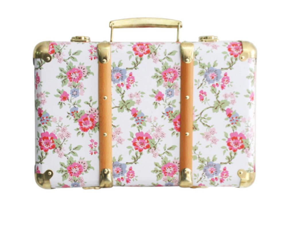Mini Vintage Brief Case- Cottage Rose
