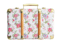 Load image into Gallery viewer, Vintage Style Carry Case - Cottage Rose