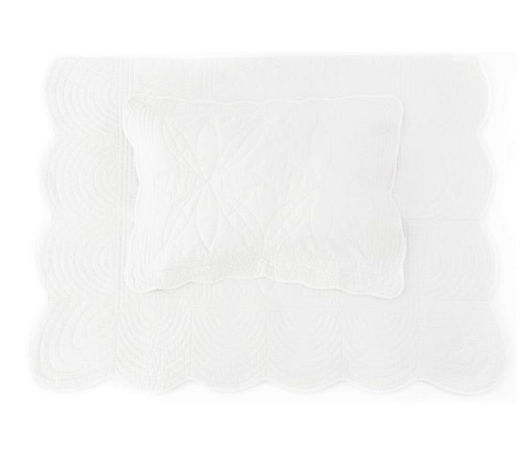 Bonne Mere Single Quilt and Pillow Set - White