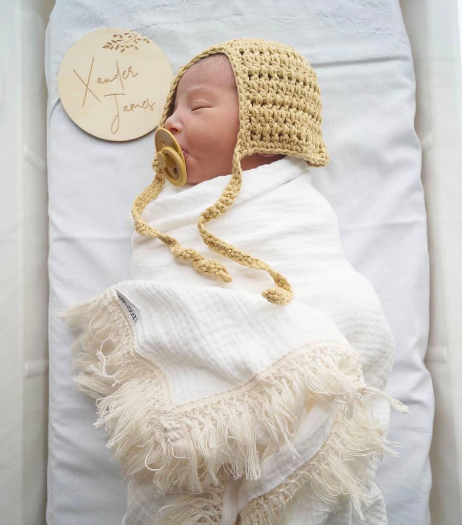 Ziggy Lou Swaddle Fringe - Cream