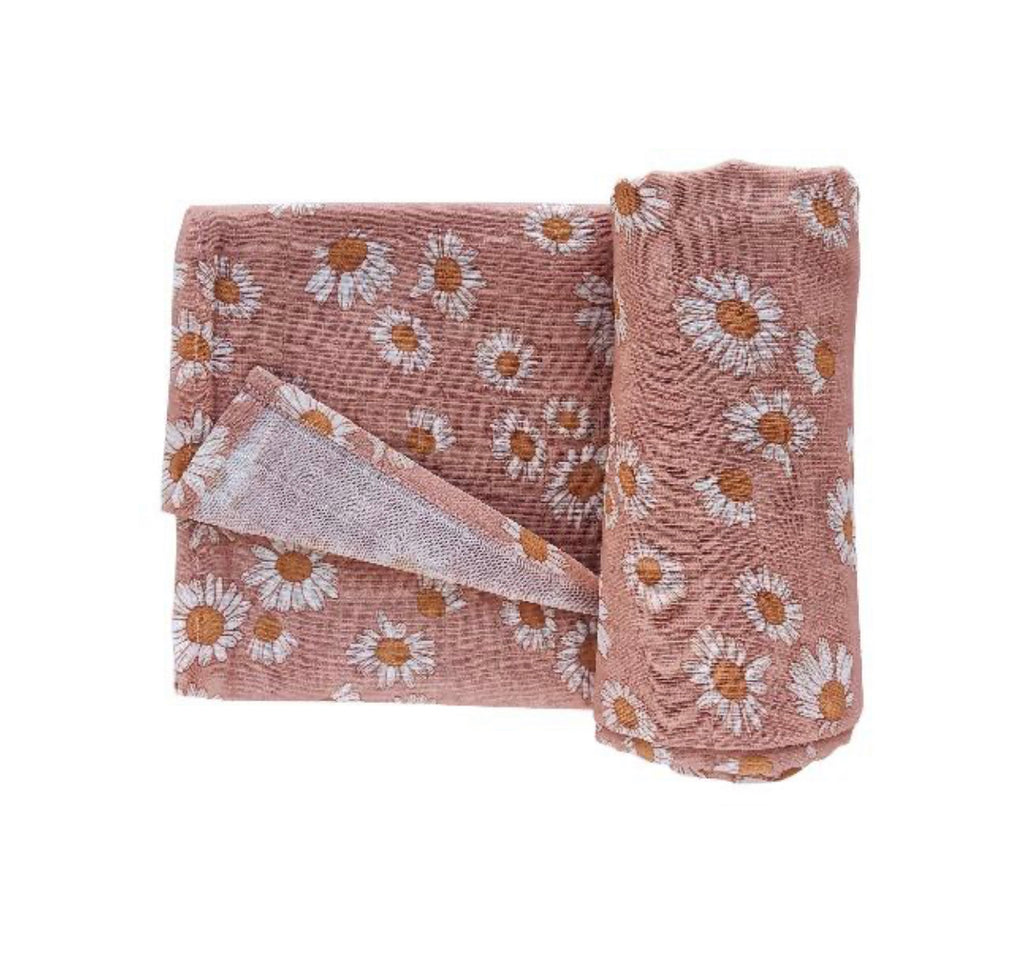 The Mini Scout Swaddle-Daisy Pink