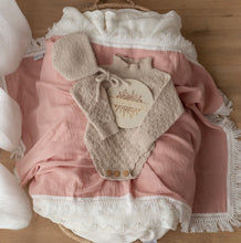 Load image into Gallery viewer, Ziggy Lou Swaddle Fringe-Dusty Pink