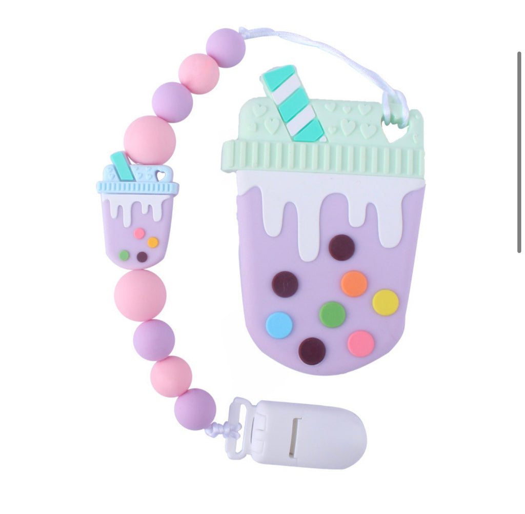 Teether Silicone- Latte 'Purple'