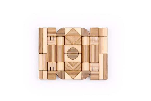 Udeas - Bamboo Building Blocks 50pc Set