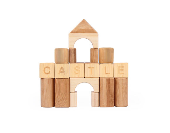 Udeas - Bamboo Alphabet and Match Blocks 80pc