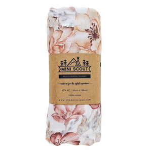 The Mini Scout Swaddle Sunset Floral