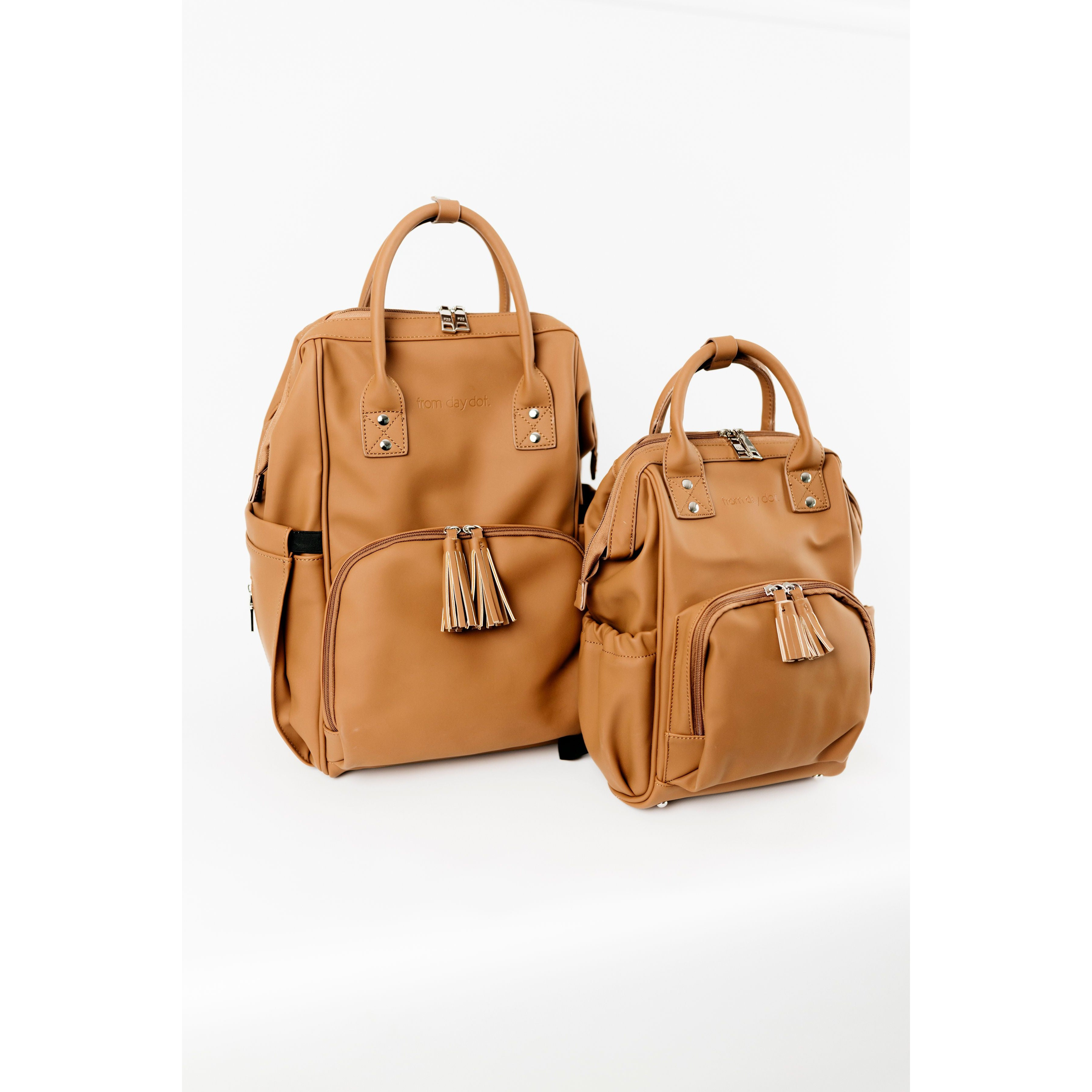 MINI Sunday Luxe Nappy Bag Backpack - MATTE TAN