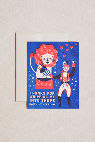 Hello!Lucky - Greeting Card - Lion Tamer