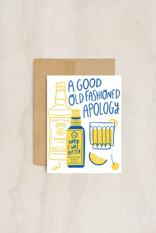 Hello!Lucky - Greeting Card - Good Old Fashioned Apology