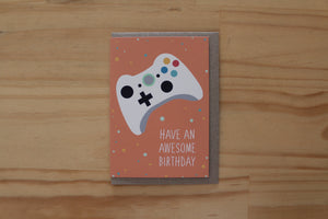 Sketchy - Greeting Card - Gamer Birthday