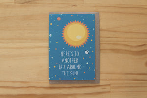 Sketchy - Greeting Card - Trip around the Sun