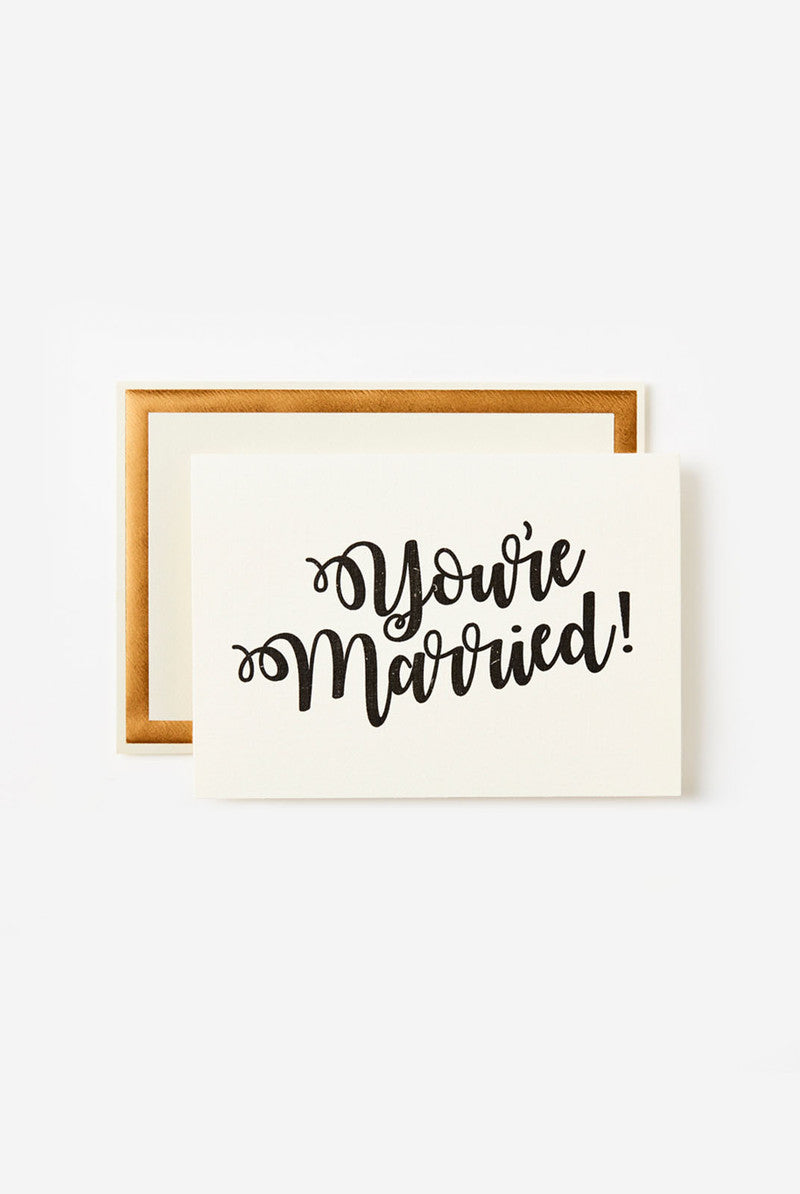 Katie Leamon - Greeting Card - You're Married