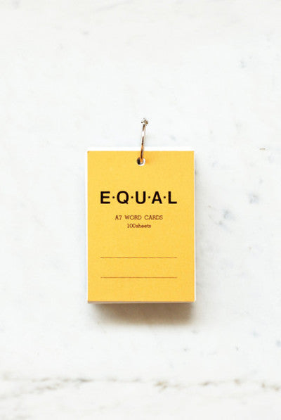 Life Stationery - Equal Memo Block - Plain A7 - Yellow