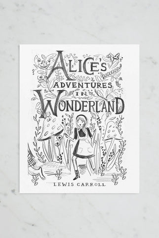 Rifle Paper Co - Print - Alice in Wonderland Sketch