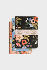 Rifle Paper Co - Stitched Notebook Set of 3 - Lively Floral