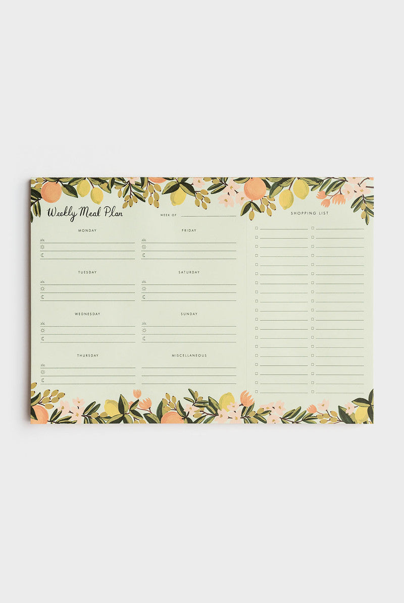 Rifle Paper Co - Weekly Meal Planner