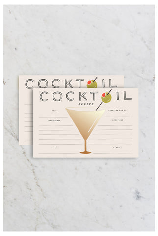 Rifle Paper Co - Recipe Cards - Cocktail