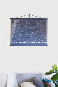 Milligram - Canvas Print - Night Sky Chart