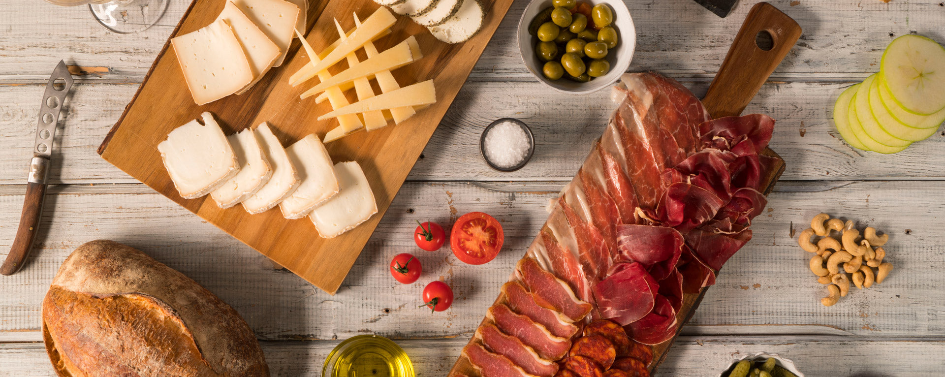 Montadito cheese board and charcuterie for catering