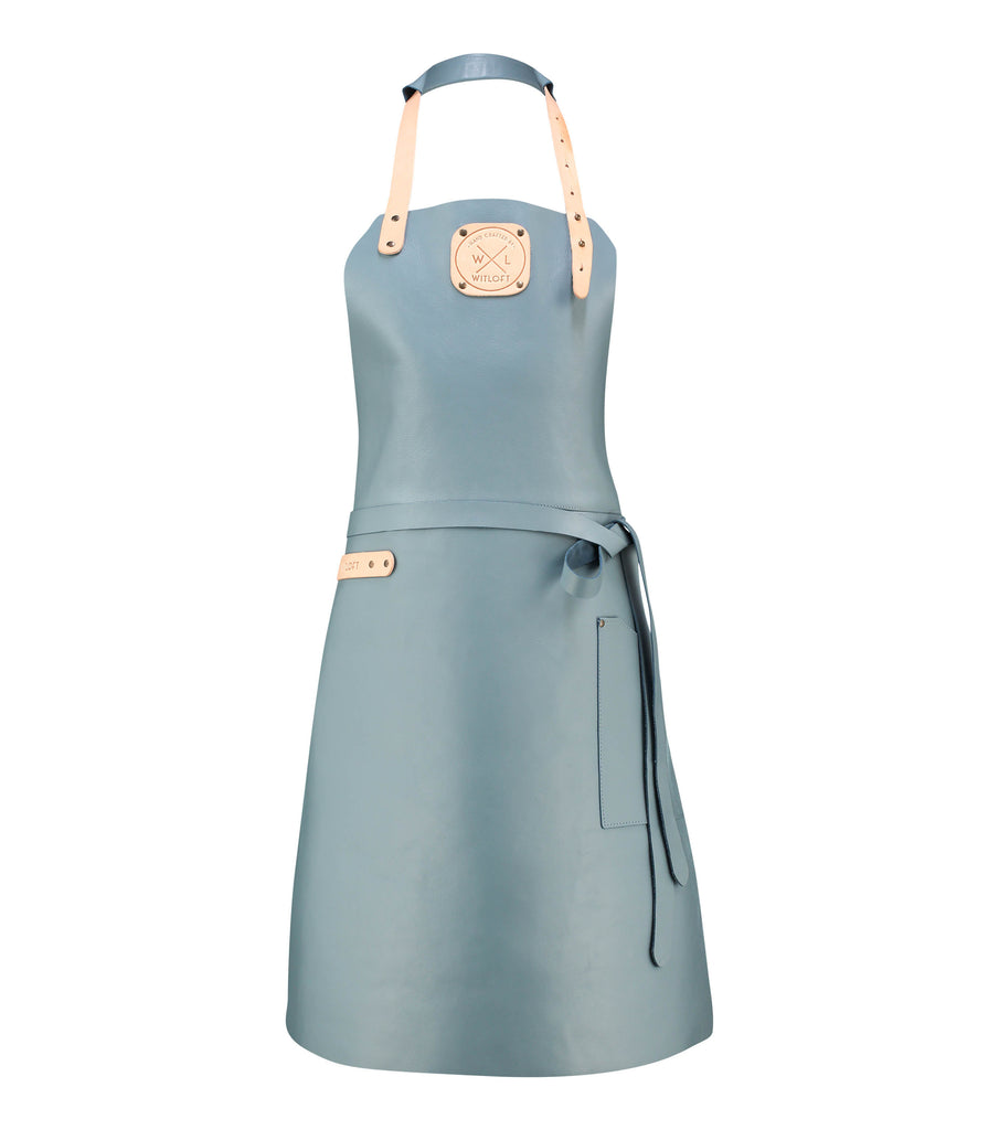 Ladies Leather Apron | Ocean with Nude details