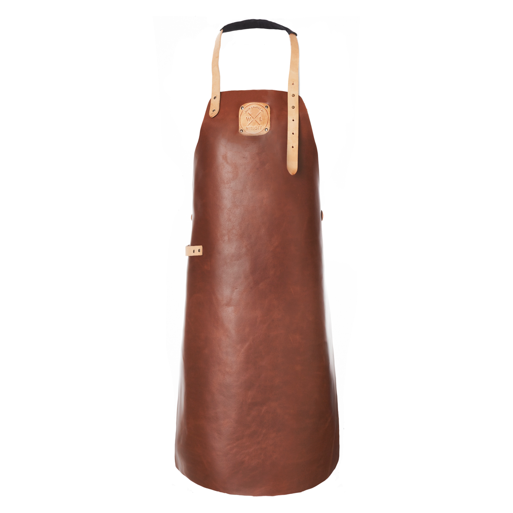 Classic Leather Apron | Cognac with Nude details
