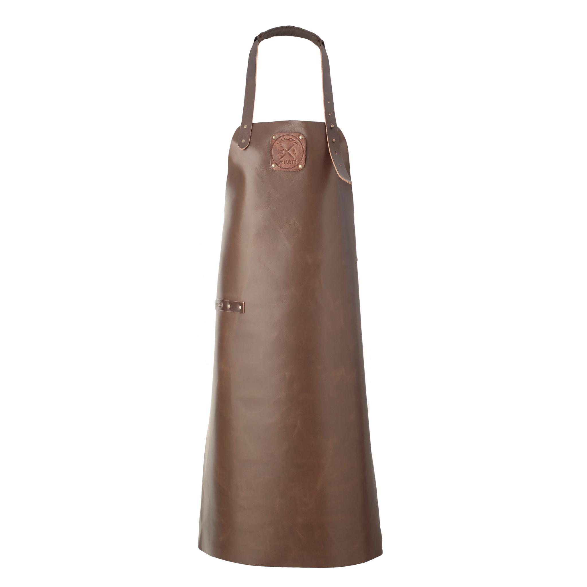 Classic Leather Apron | Dark Brown with Dark Brown details
