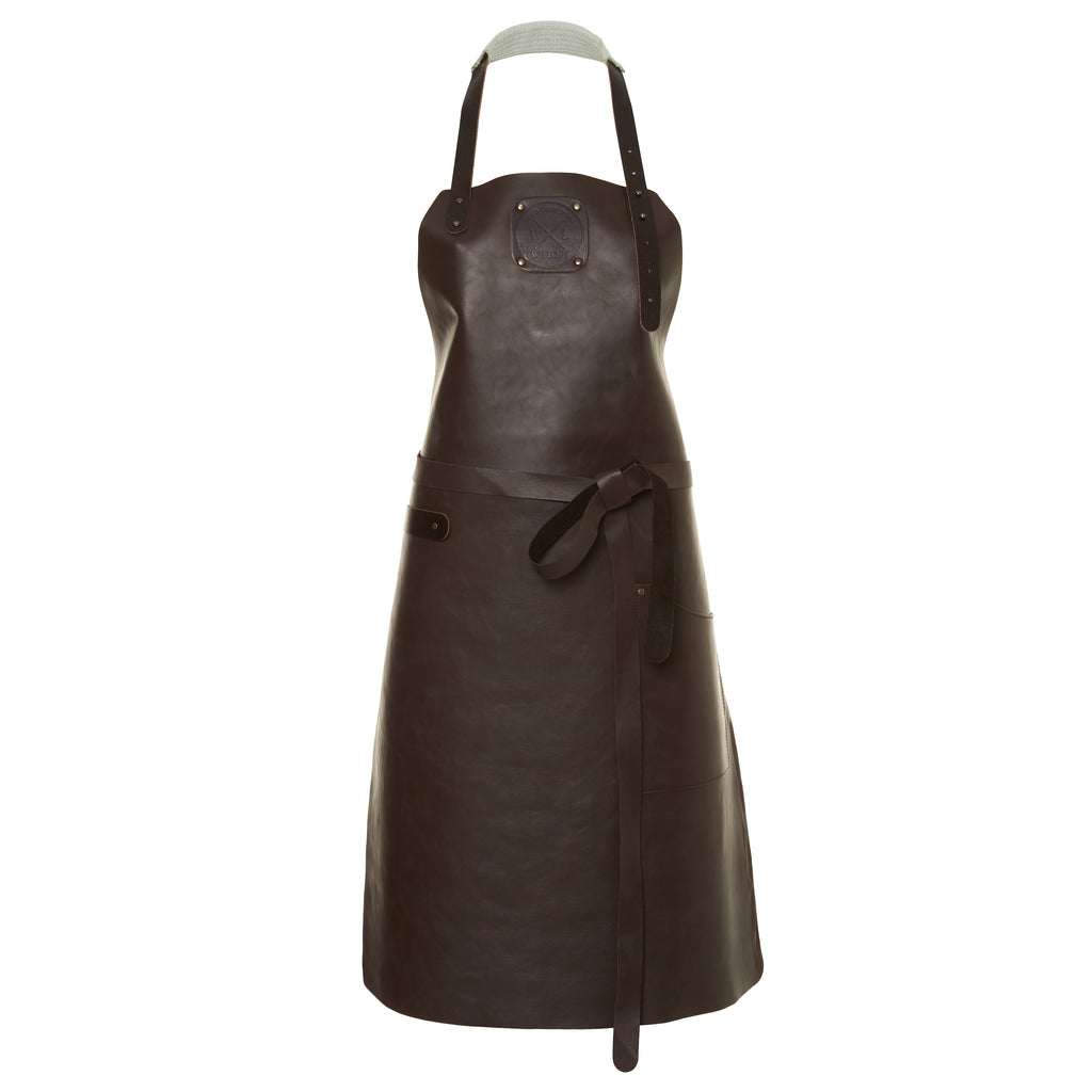 Ladies Leather Apron | Dark Brown