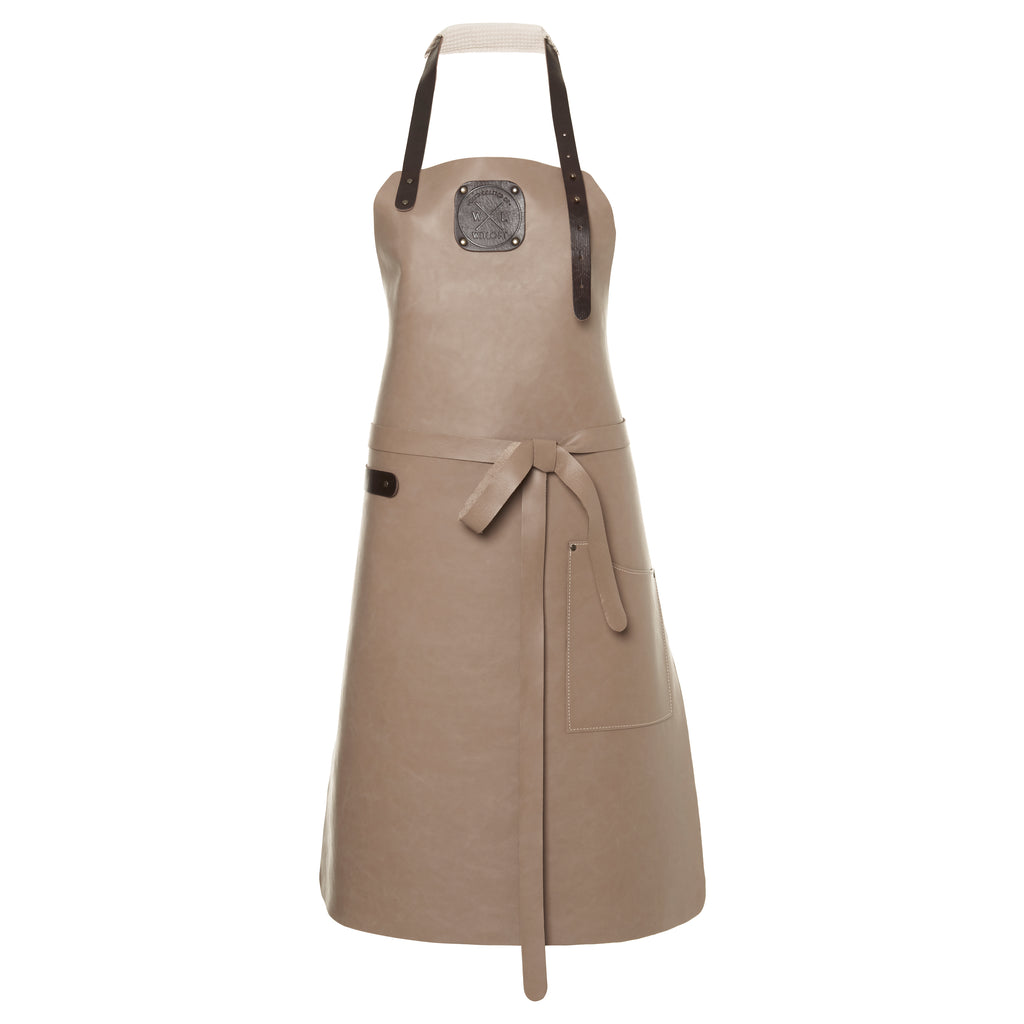 Ladies Leather Apron | Taupe
