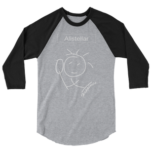 Happiness 3/4 sleeve raglan shirt (Unisex)