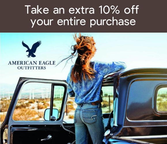 American Eagle Outfitters 10% off Entire Order−𝗘𝗺𝗮𝗶𝗹 𝗗𝗲𝗹𝗶𝘃𝗲𝗿𝘆