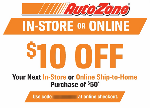 $10 off Ship-to-Home Purchase at Autozone