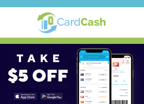 Card Cash−Get $5 off Your First Purchase!