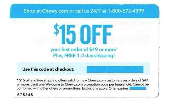 Chewy $15 off Your First Order of $49 or More PLUS Free Shipping−𝗜𝗻𝘀𝘁𝗮𝗻𝘁 𝗗𝗲𝗹𝗶𝘃𝗲𝗿𝘆