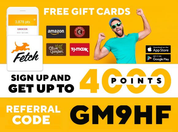 Download Fetch Rewards App and Earn Free Gift Cards!
