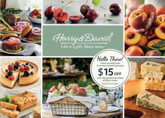 $15 off $30 at Harry & David–𝗜𝗻𝘀𝘁𝗮𝗻𝘁 𝗗𝗲𝗹𝗶𝘃𝗲𝗿𝘆