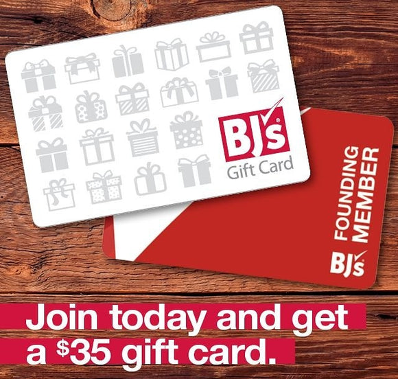 Free $35 Gift Card BJ's Wholesale Club Inner Circle Membership