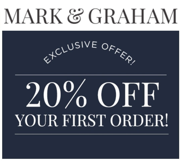 Mark and Graham 20% off Entire Purchase−𝗘𝗺𝗮𝗶𝗹 𝗗𝗲𝗹𝗶𝘃𝗲𝗿𝘆
