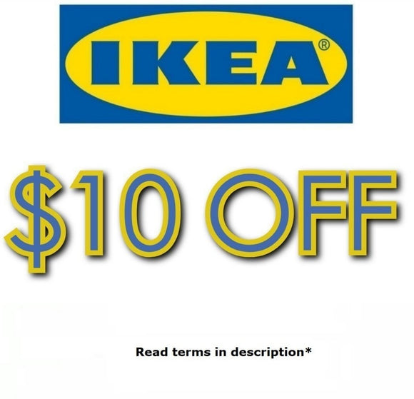 $10 off Any Purchase at IKEA + Free Frozen Yogurt−𝗘𝗺𝗮𝗶𝗹 𝗗𝗲𝗹𝗶𝘃𝗲𝗿𝘆