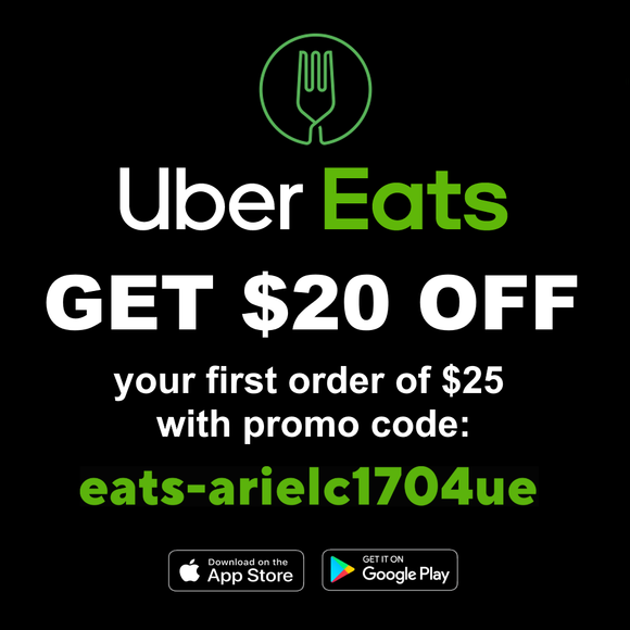 Get $20 off a $25 Order with Uber Eats