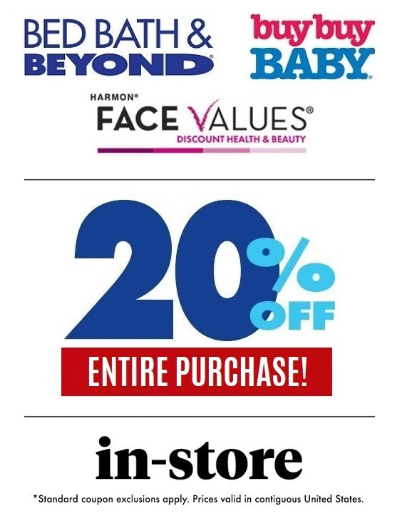 Bed Bath & Beyond 20% off Entire Purchase−Email Delivery