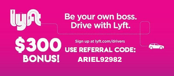 Earn an Easy $300 Bonus as a Driver with Lyft